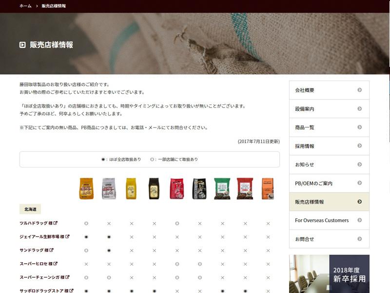藤田珈琲株式会社 コーポレートサイト